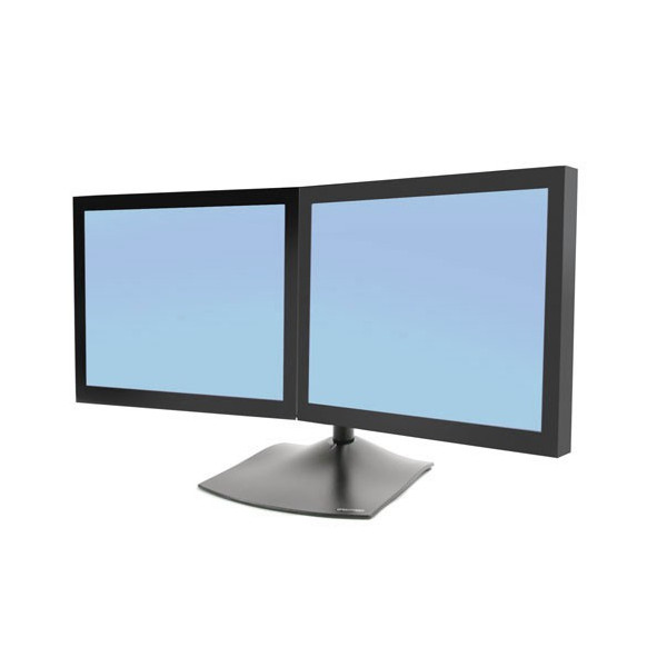 Pied Ergotron bi-écrans juxtaposés DS100